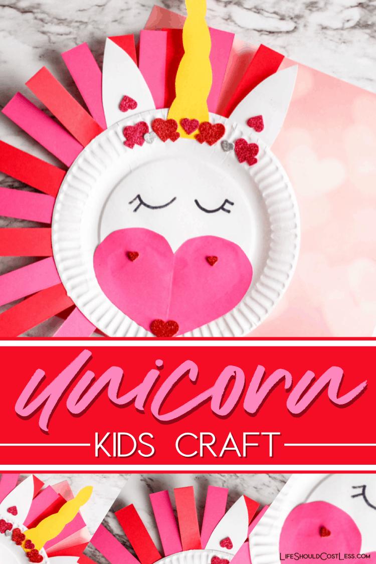 Cute Unicorn Craft For Kids. lifeshouldcostless.com