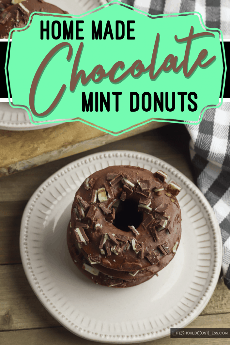 Learn how to make easy homemade cake donuts from scratch. This chocolate mint donuts recipe is quick, easy, and a super tasty treat.