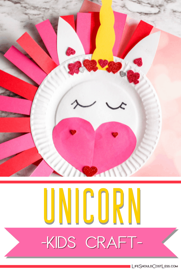 Easy Unicorn Arts And Crafts For Kids diy project. lifeshouldcostless.com