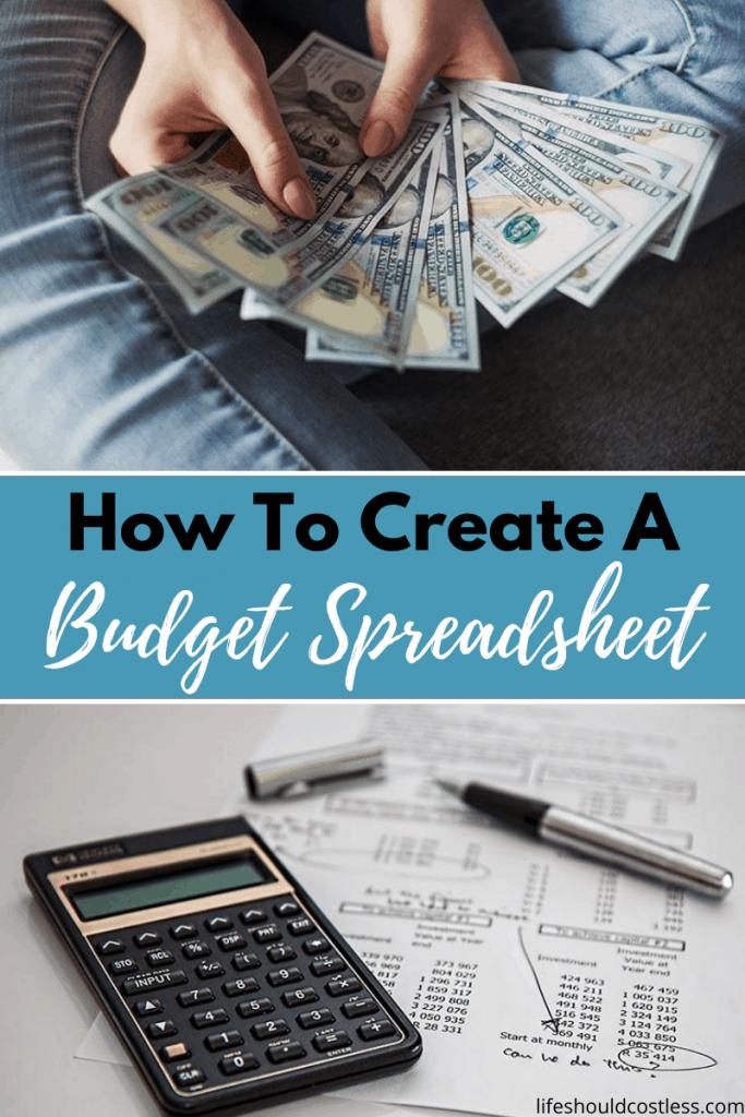 budget spreadsheet tips