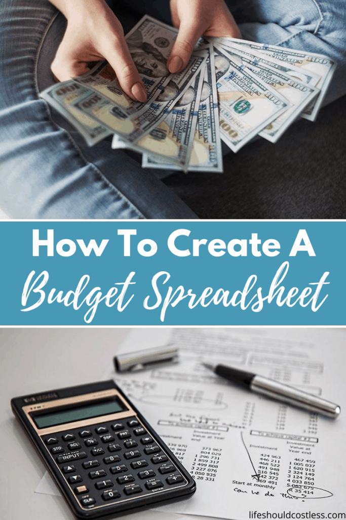 How to create a family budget spreadsheet. lifeshouldcostless.com