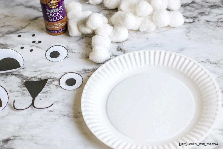 Polar bear crafts for kids, supplies needed. lifeshouldcostless.com