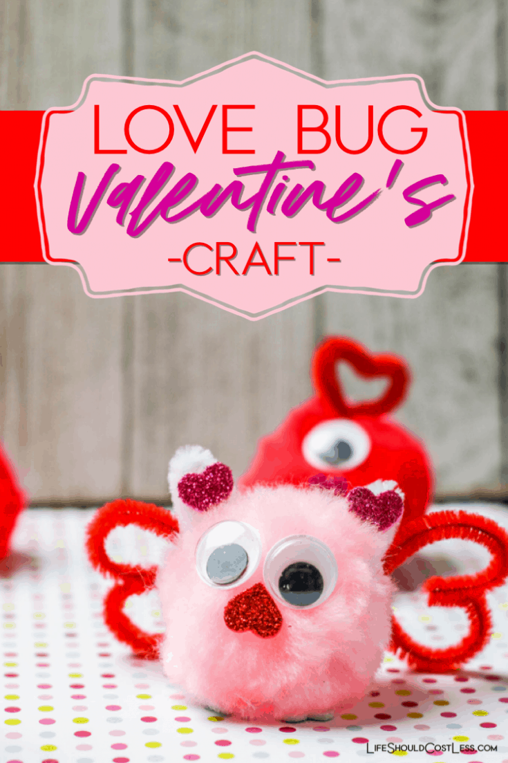 This easy Valentine's Craft is perfect for kids from preschool to early Elementary age. Love Bugs made with Pom Poms will keep everyone happy & busy.