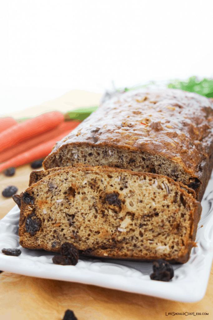 Carrot loaf bread recipe lifeshouldcostless.com