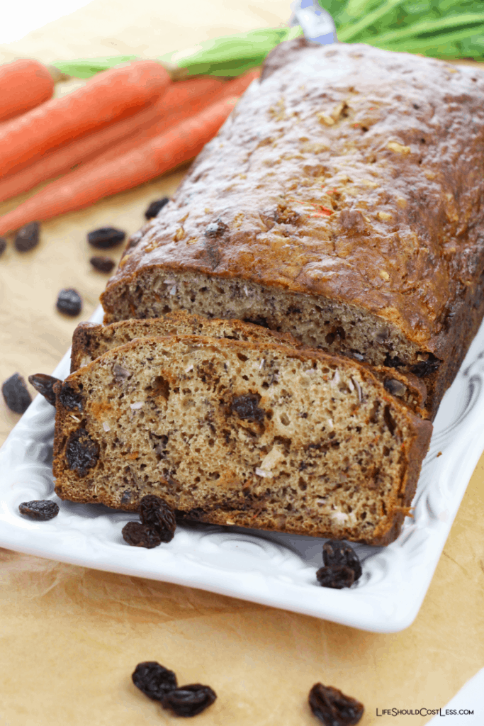 Quick and easy Carrot bread recipe lifeshouldcostless.com