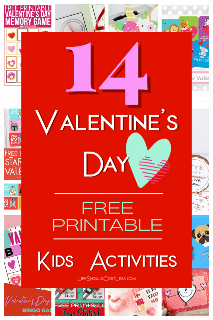 14 Valentine's Day Free Printable Kids Activities lifeshouldcostless.com