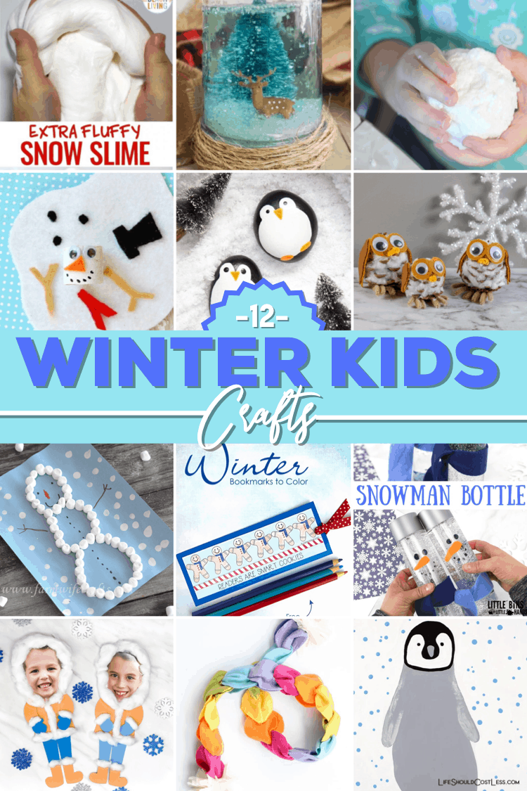 12 Winter Craft Ideas for kids, toddlers, preschoolers. Fun winter art projects found at lifeshouldcostless.com