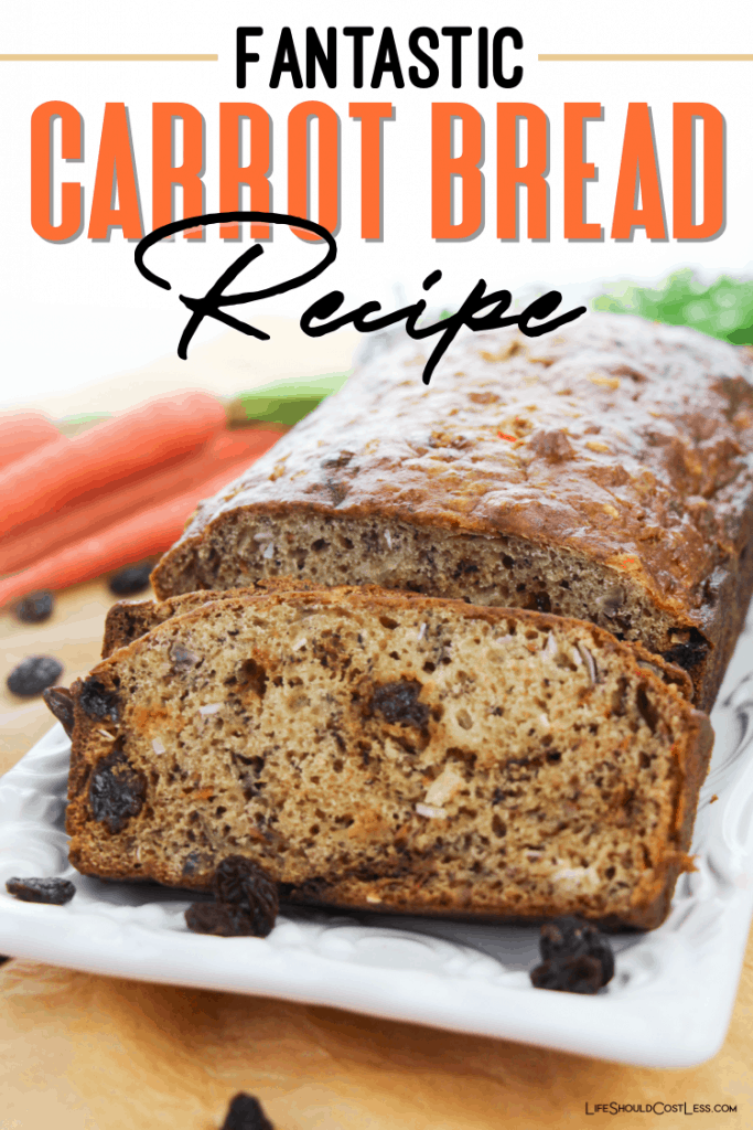 Easy, delicious, and healthy carrot bread recipe lifeshouldcostless.com