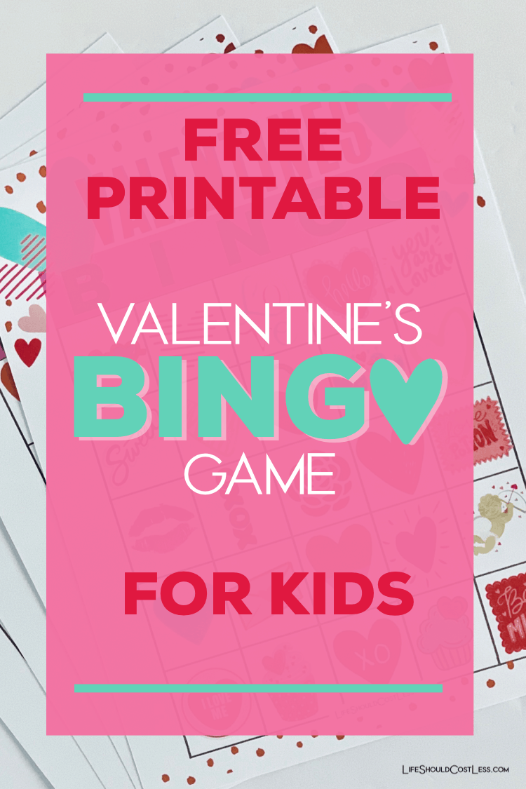 Valentine's day bingo cards. lifeshouldcostless.com