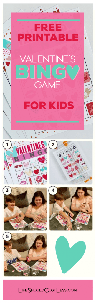 Free Printable Valentine Bingo Cards Life Should Cost Less