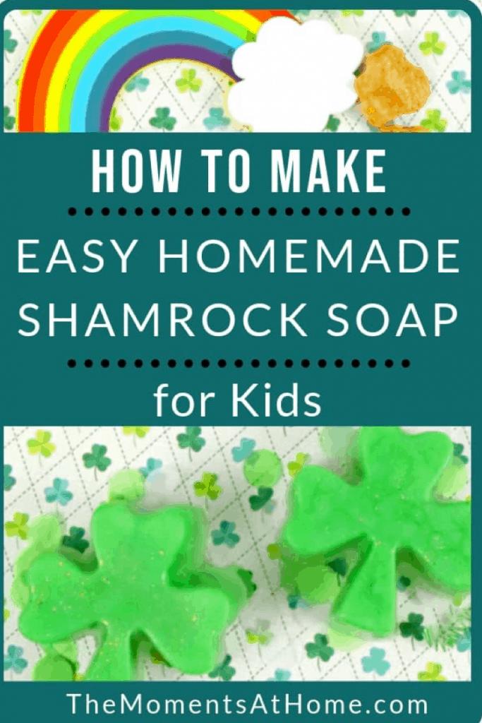 DIY CLover shaped soap,  How to make shamrock easy homemade soap recipe lifeshouldcostless.com