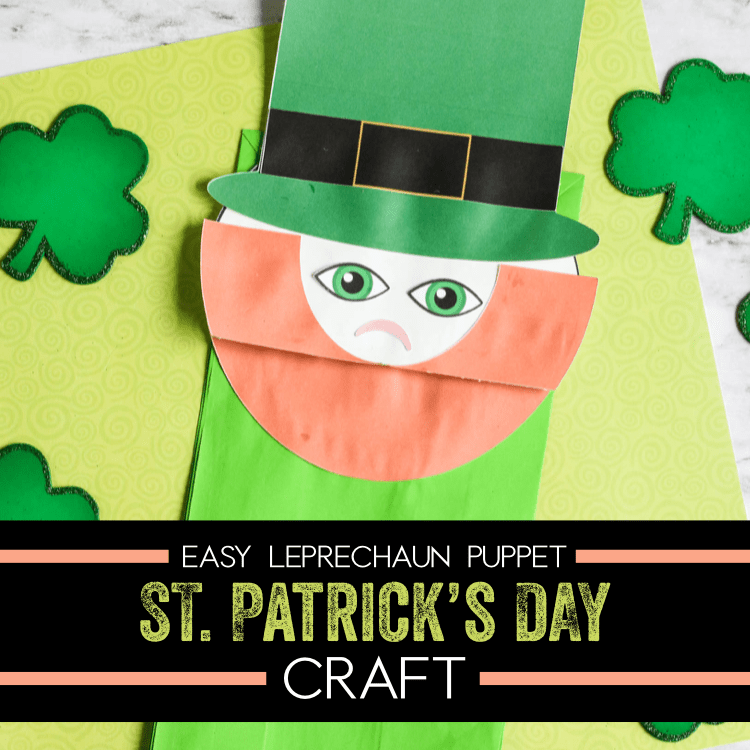 Leprechaun made with paper bag. St Patrick's day crafts lifeshouldcostless.com