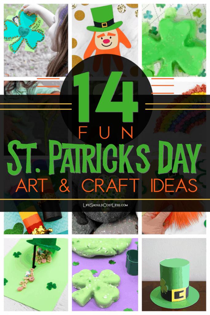 14 Fun St. Patricks Day Art & Craft Ideas lifeshouldcostless.com