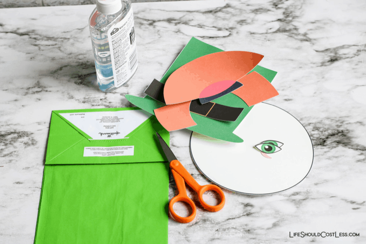 Supplies used to make Easy st Patrick's day crafts lifeshouldcostless.com