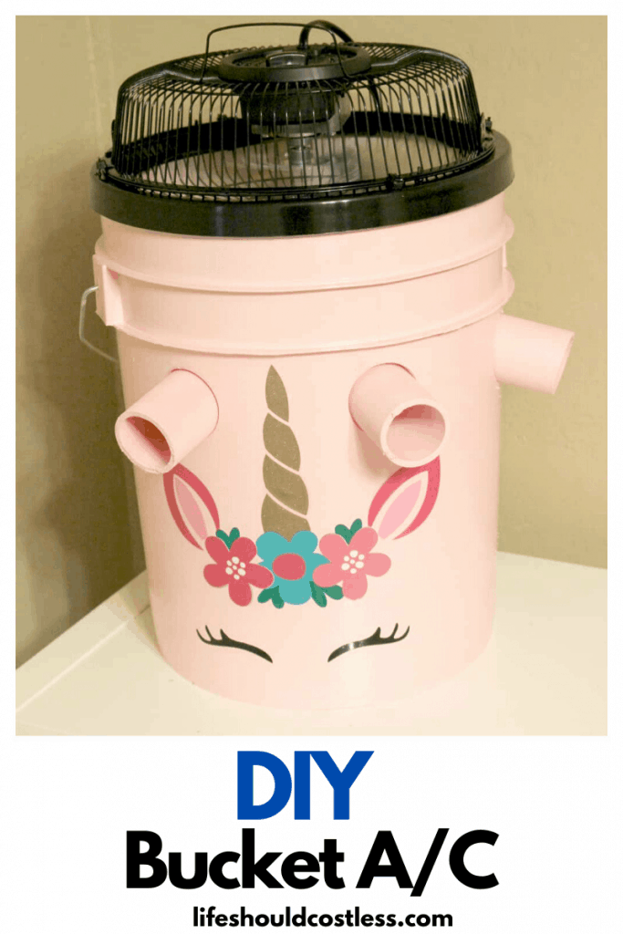 Gallon bucket air conditioner, how to make one, tutorial. lifeshouldcostless.com