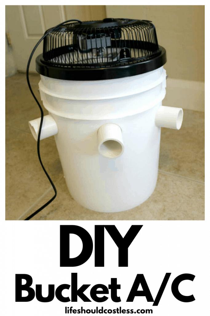 Homemade bucket air conditioner. lifeshouldcostless.com