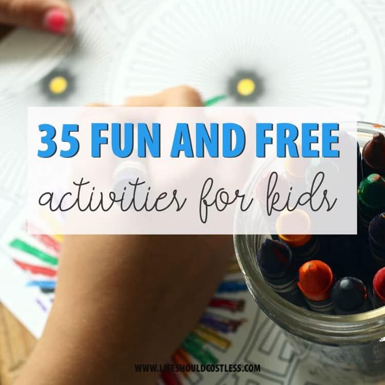 Free summer activities for kids. lifeshouldcostless.com