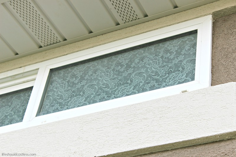 mod podge lace on windows