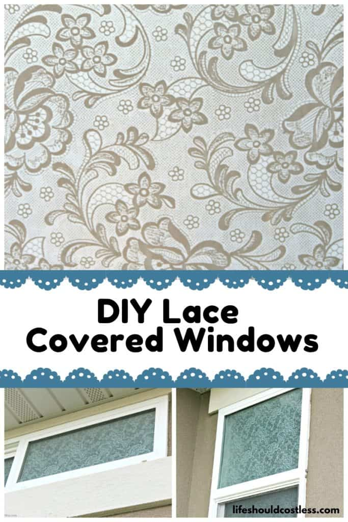 easy lace window coverings