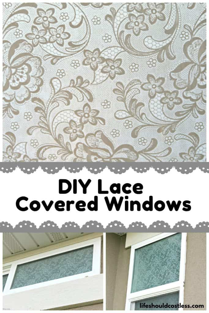 DIY Lace covered windows tutorial/how to. lifeshouldcostless.com