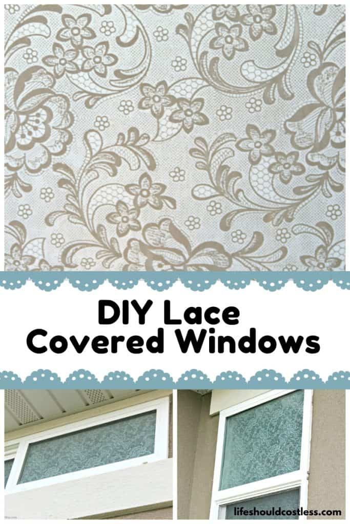 lace on windows without mod podge