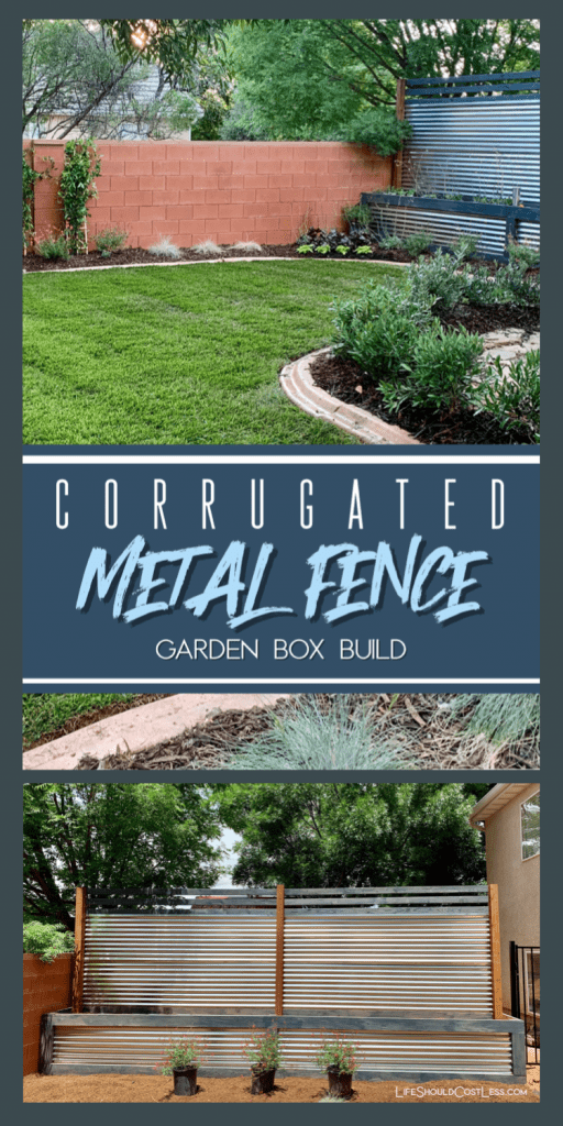 How to install a metal fence with raised planter boxes built in. lifeshouldcostless.com