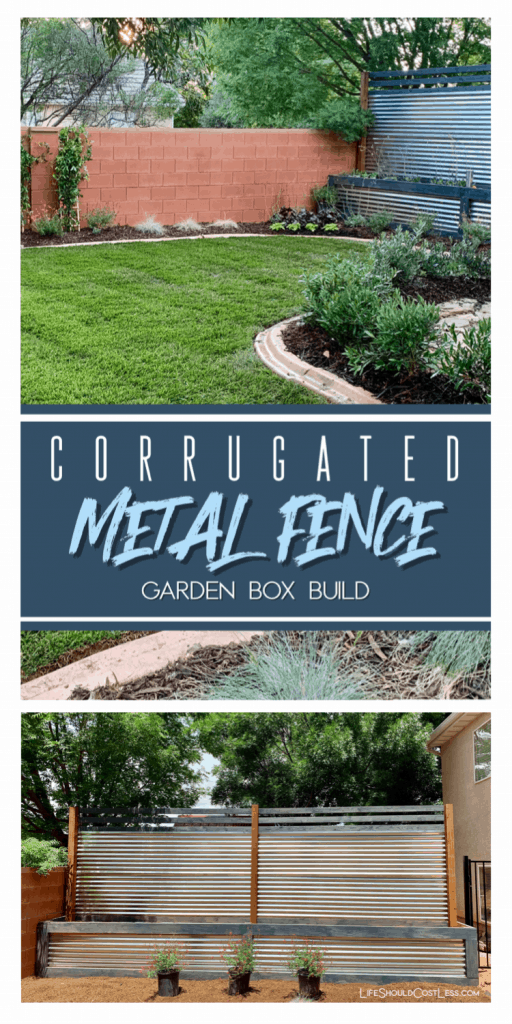 How to make a decorative metal fence with fence line landscaping.