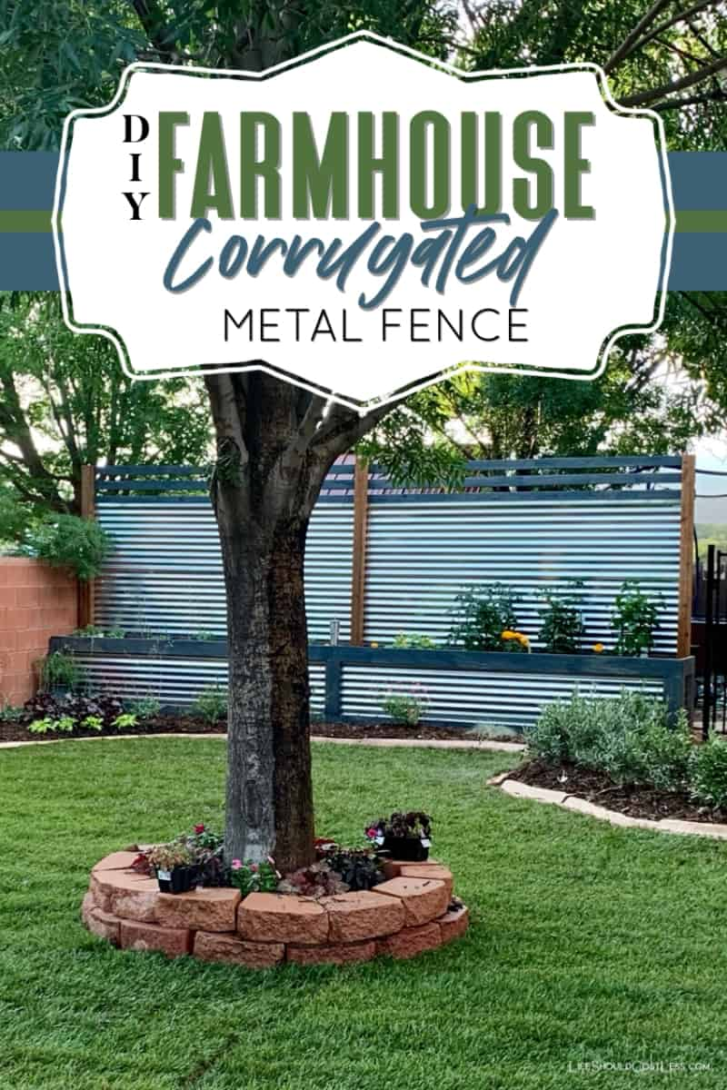 DIY Farmhouse Corrugated Metal Fence & Planter Box Build. lifeshouldcostless.com