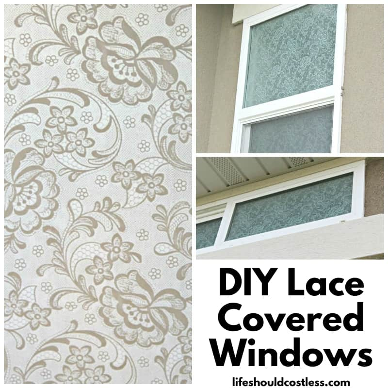 how to stick lace to glass