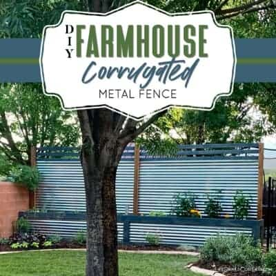 How To Build A Corrugated Metal Fence With Built In Planter Boxes
