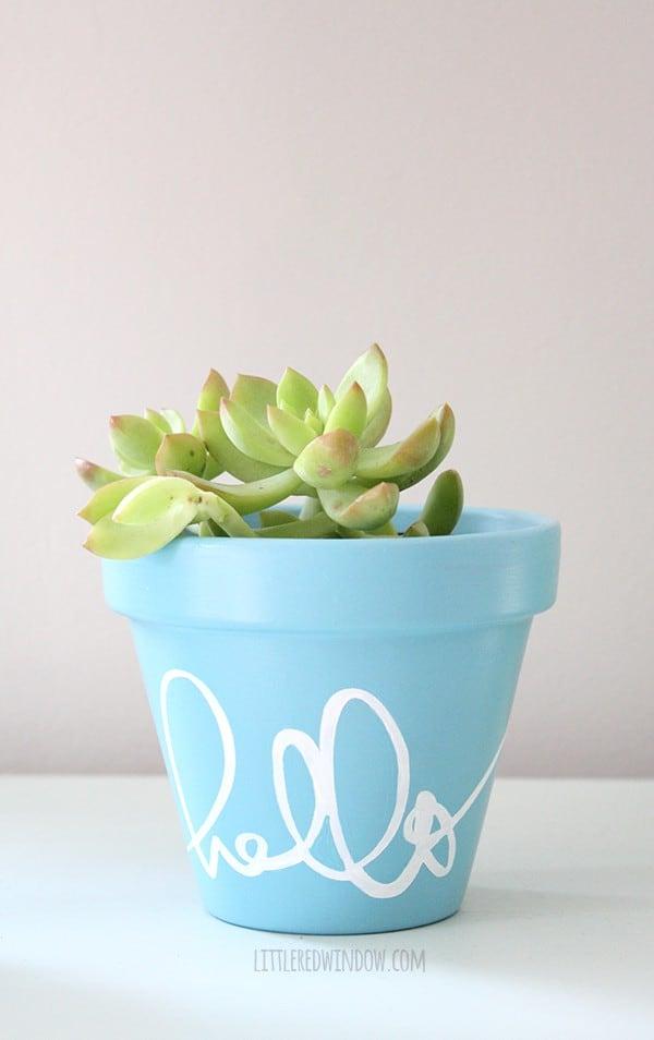 how to stencil a flower pot