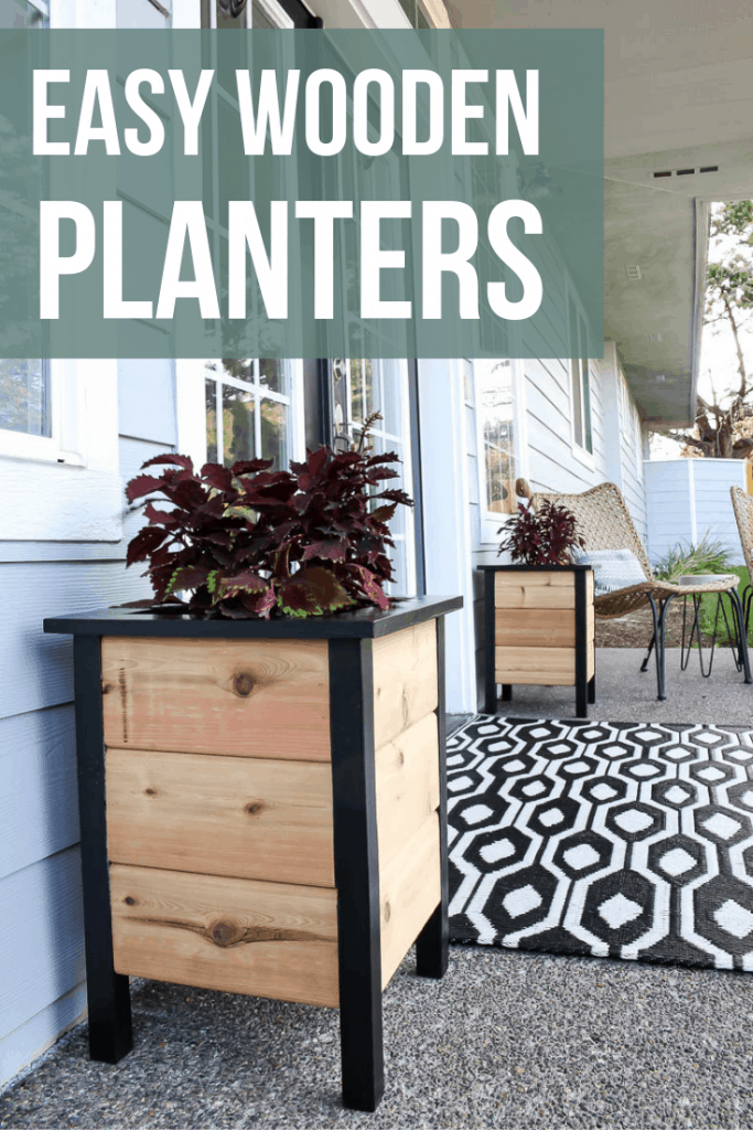 how to make easy wooden porch planters.