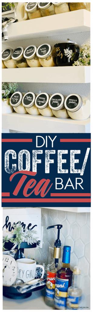 Kitchen coffee/tea bar idea.