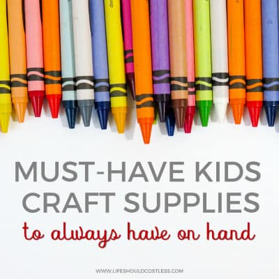 Traditional craft supplies kids can use. lifeshouldcostless.com