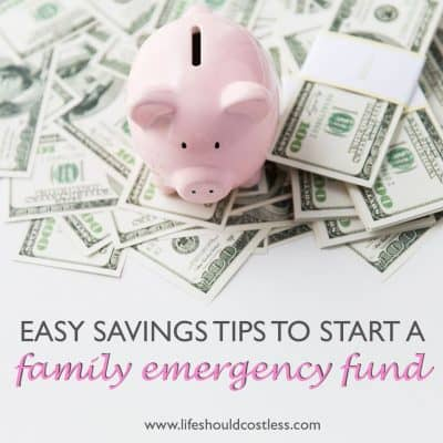 Budgeting an emergency/rainy day fund.