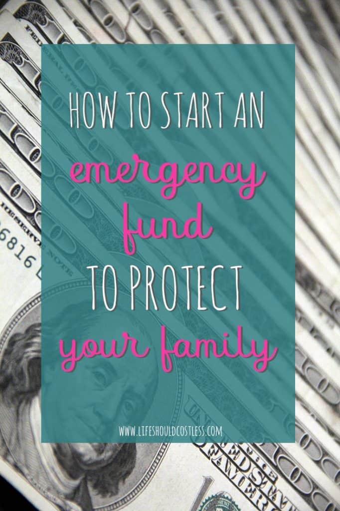 Emergency fund saving tips found on lifeshouldcostless.com