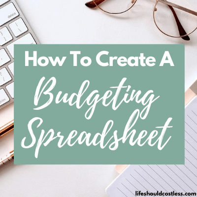 Family budget spreadsheet how to