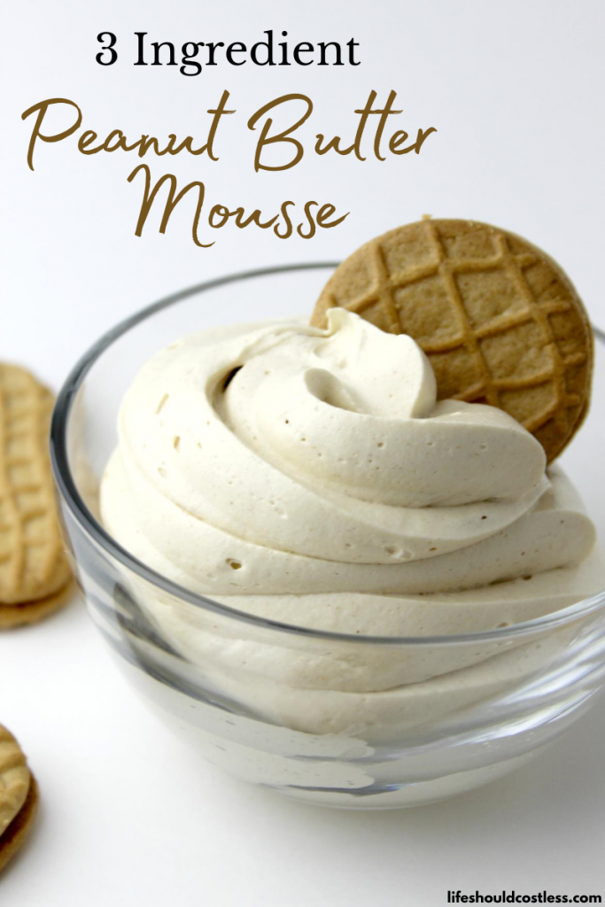3 Ingredient Easy Peanut Butter Mousse Recipe.