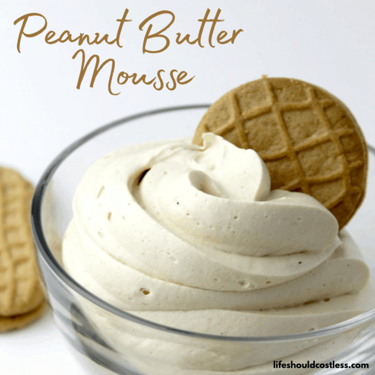 Peanut butter mousse made with cool whip/whipped topping.