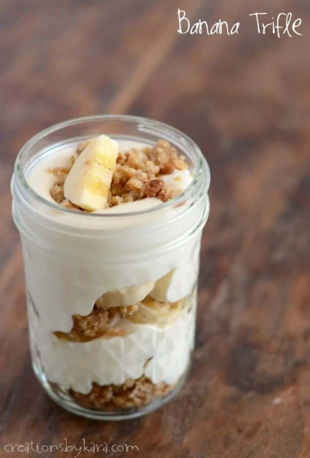 Individual Banana Cream Trifle/Parfait Recipe
