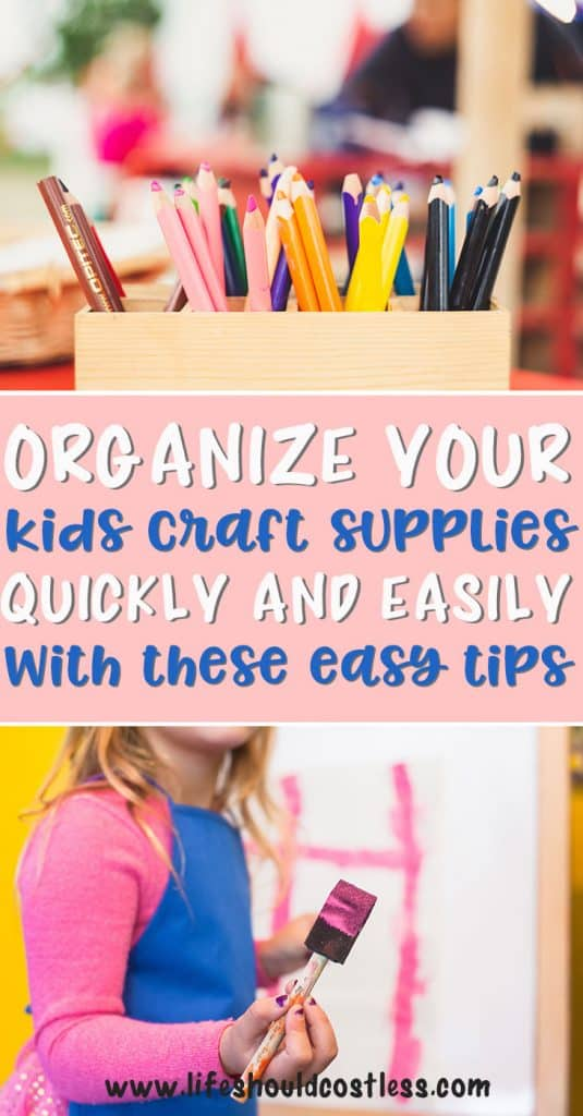How to organize kids craft supplies.