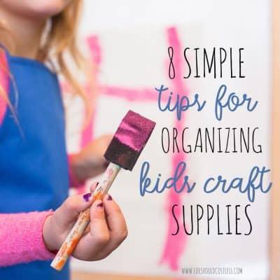 kids craft organization