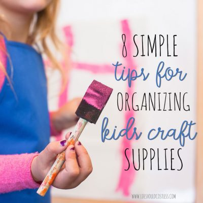 kids craft organization