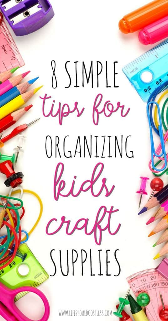 kids craft supplies organization