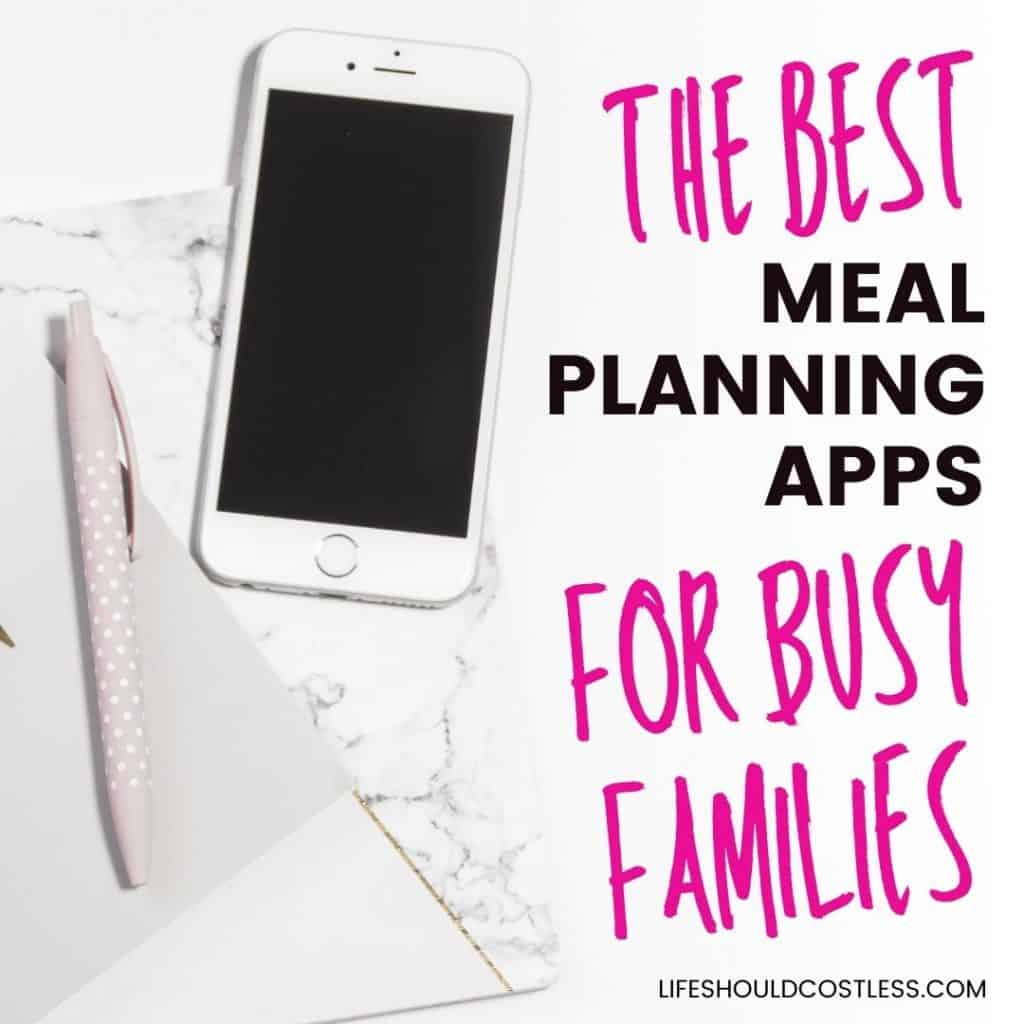 best app for grocery list and meal planning with recipes.