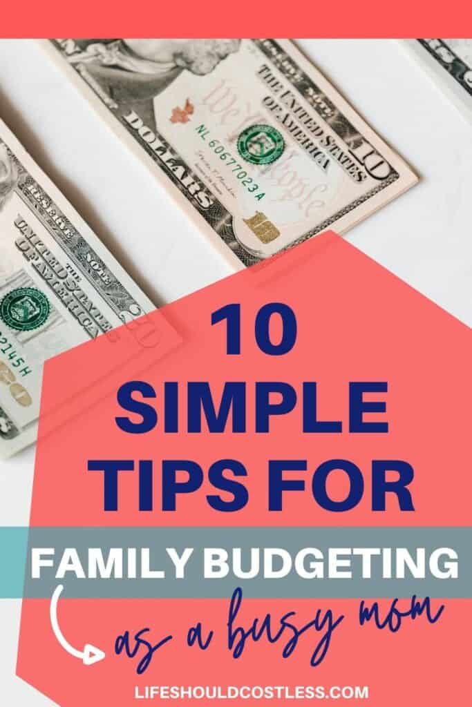 Ideas on how to get better at family budgeting.
