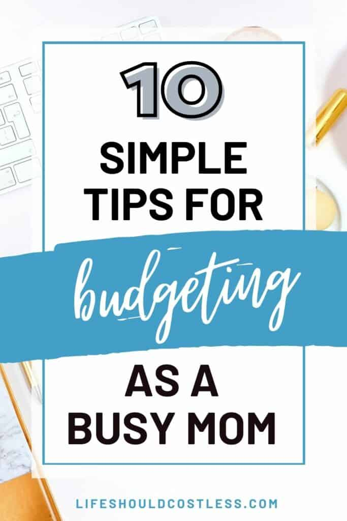 the best simple tips/suggestions for family budgeting.