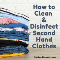How to wash new and used clothes. lifeshouldcostless.com