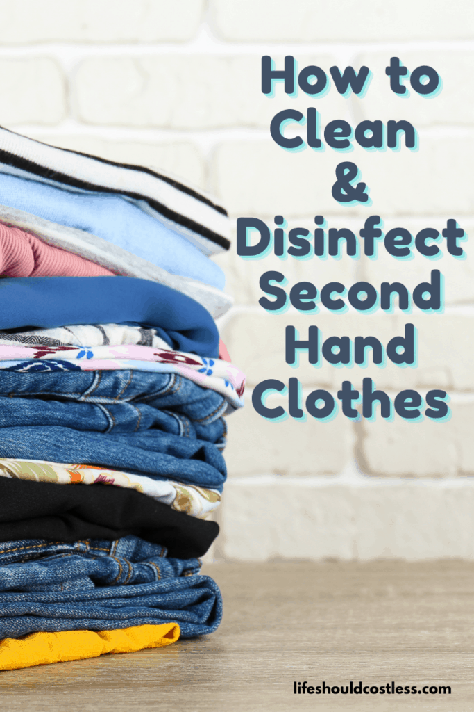 Best way to get stains out of used clothes. lifeshouldcostless.com