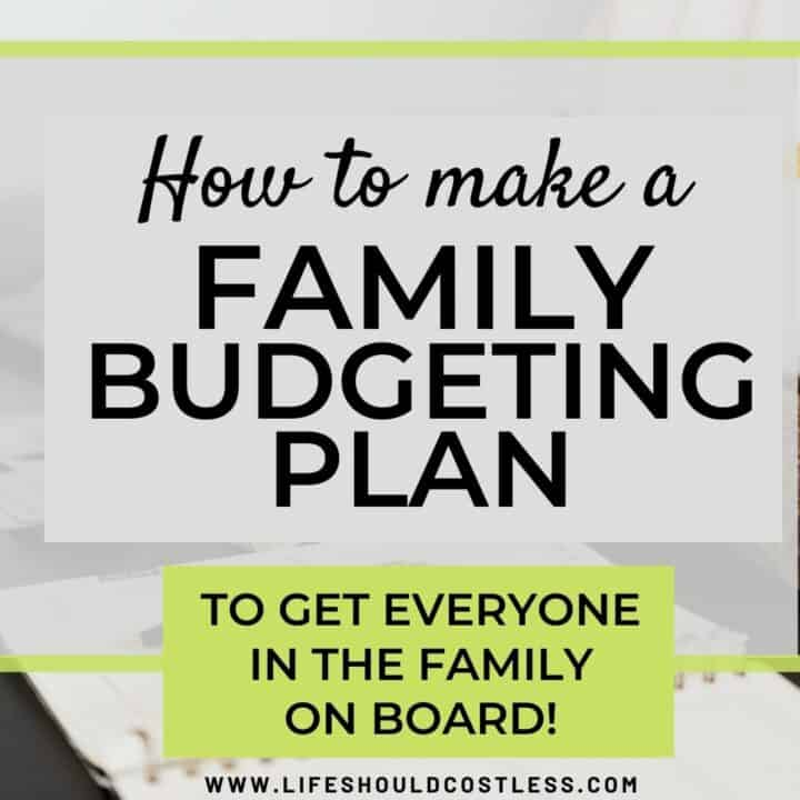 family budget to reduce debt